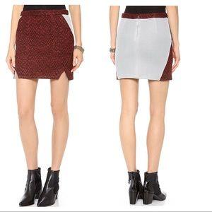 NEW Rebecca Minkoff Iris tweed mini skirt